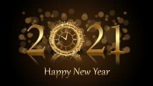 new year, greetings, 2021